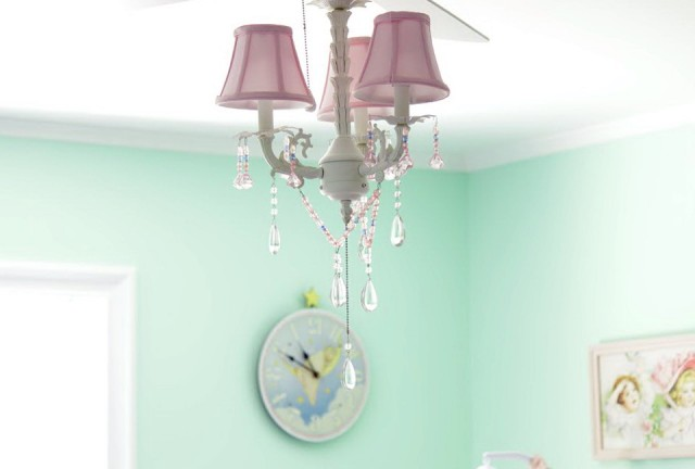 Baby Room Chandelier Fan