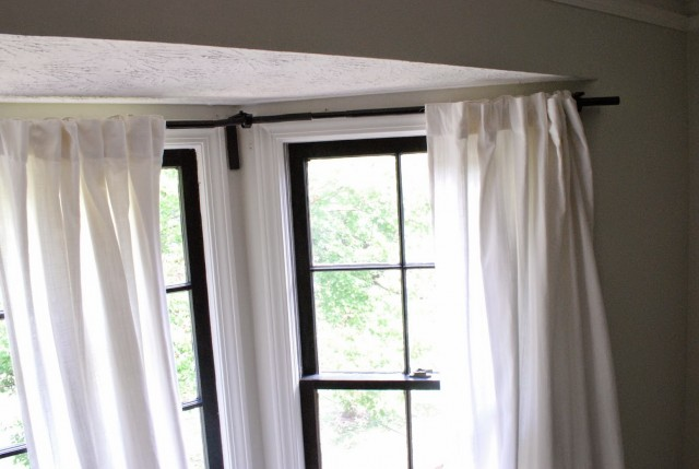 Bay Window Curtains Straight Across