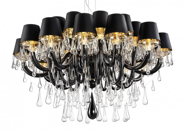 Black And Gold Chandelier Shades