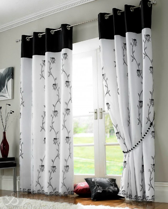 Black And White Curtains Design