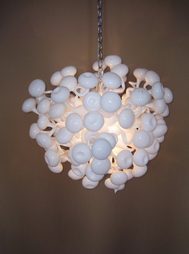 Blown Glass Ball Chandelier