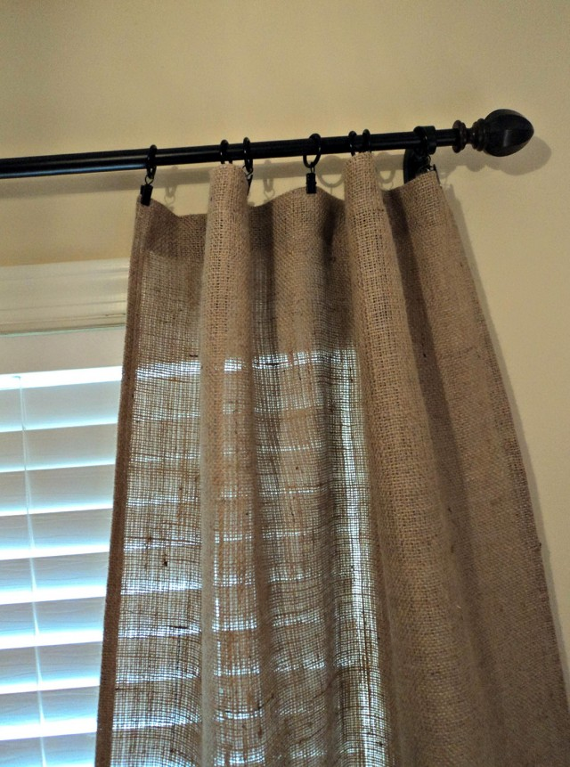 Burlap Drapes And Curtains