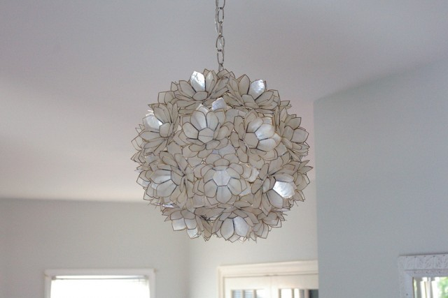 Capiz Lotus Flower Chandelier