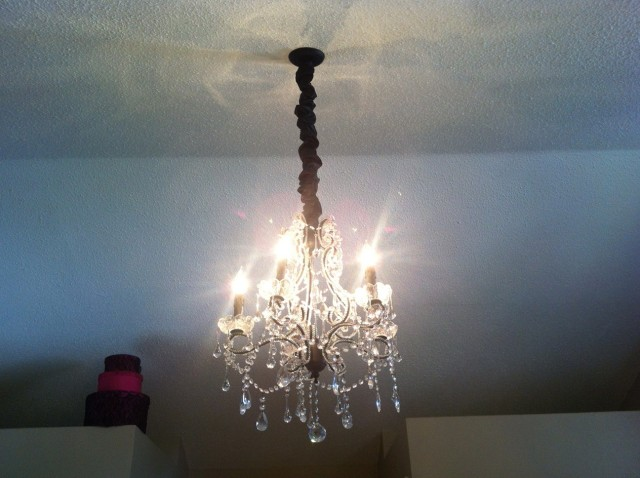 Chandelier Cord Cover White