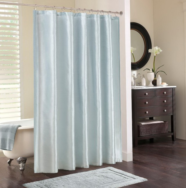 Color Block Curtains Blue