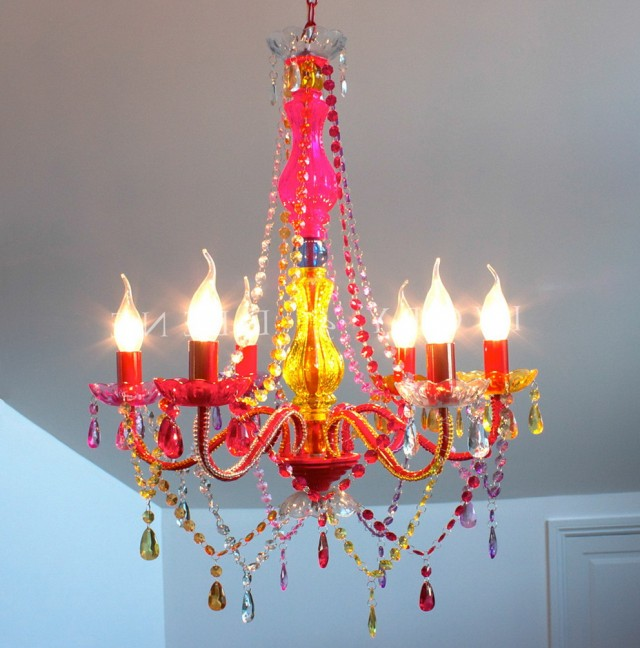 Colored Crystals For Chandeliers