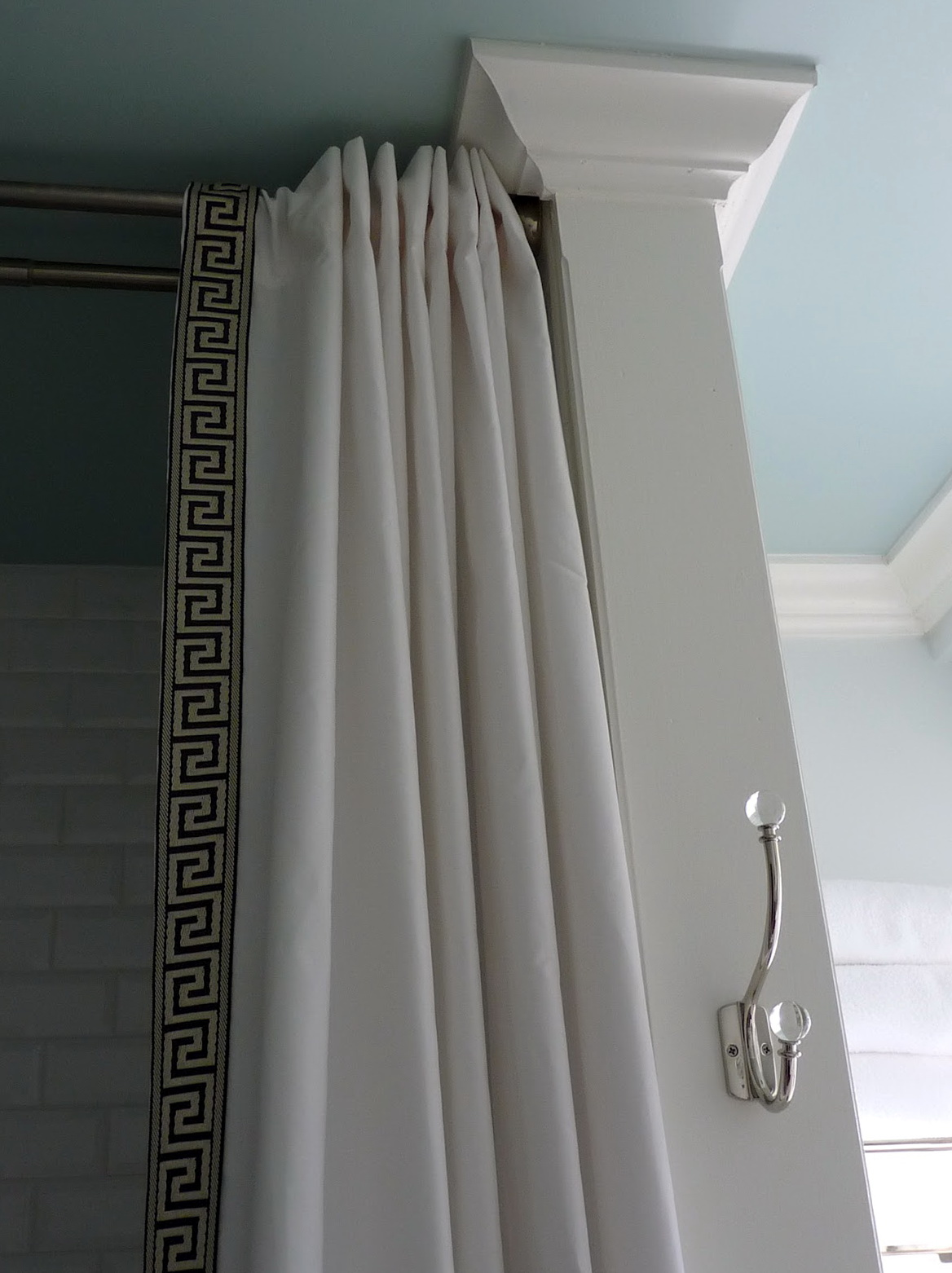 Corner Shower Curtain Rod Track Style