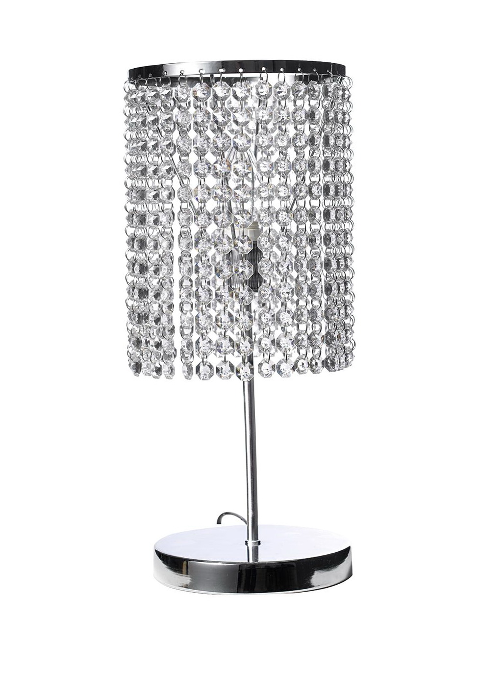 Crystal Beaded Table Chandelier Lamp