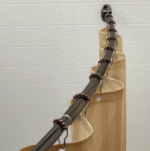 Curved Shower Curtain Rod Installation
