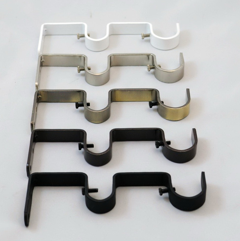 Double Curtain Rod Brackets India