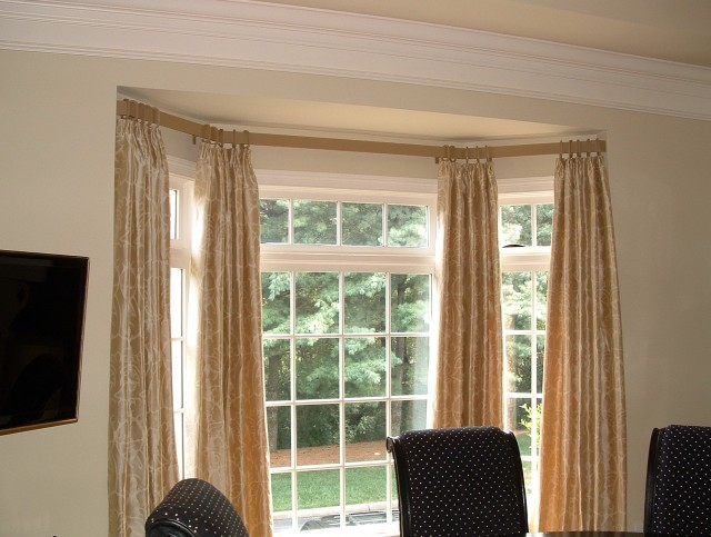Double Curtain Rods For Bay Windows