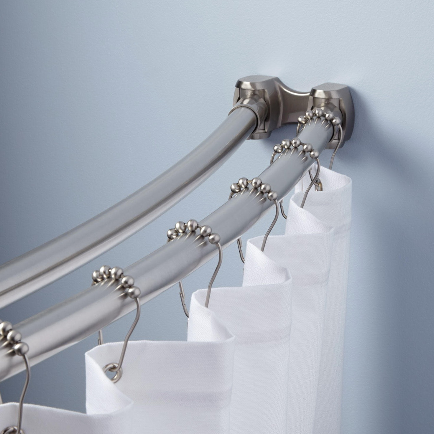 Double Curved Shower Curtain Rod