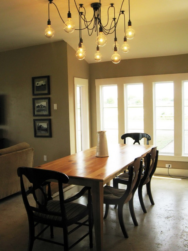 Edison Bulb Chandelier Dining Room