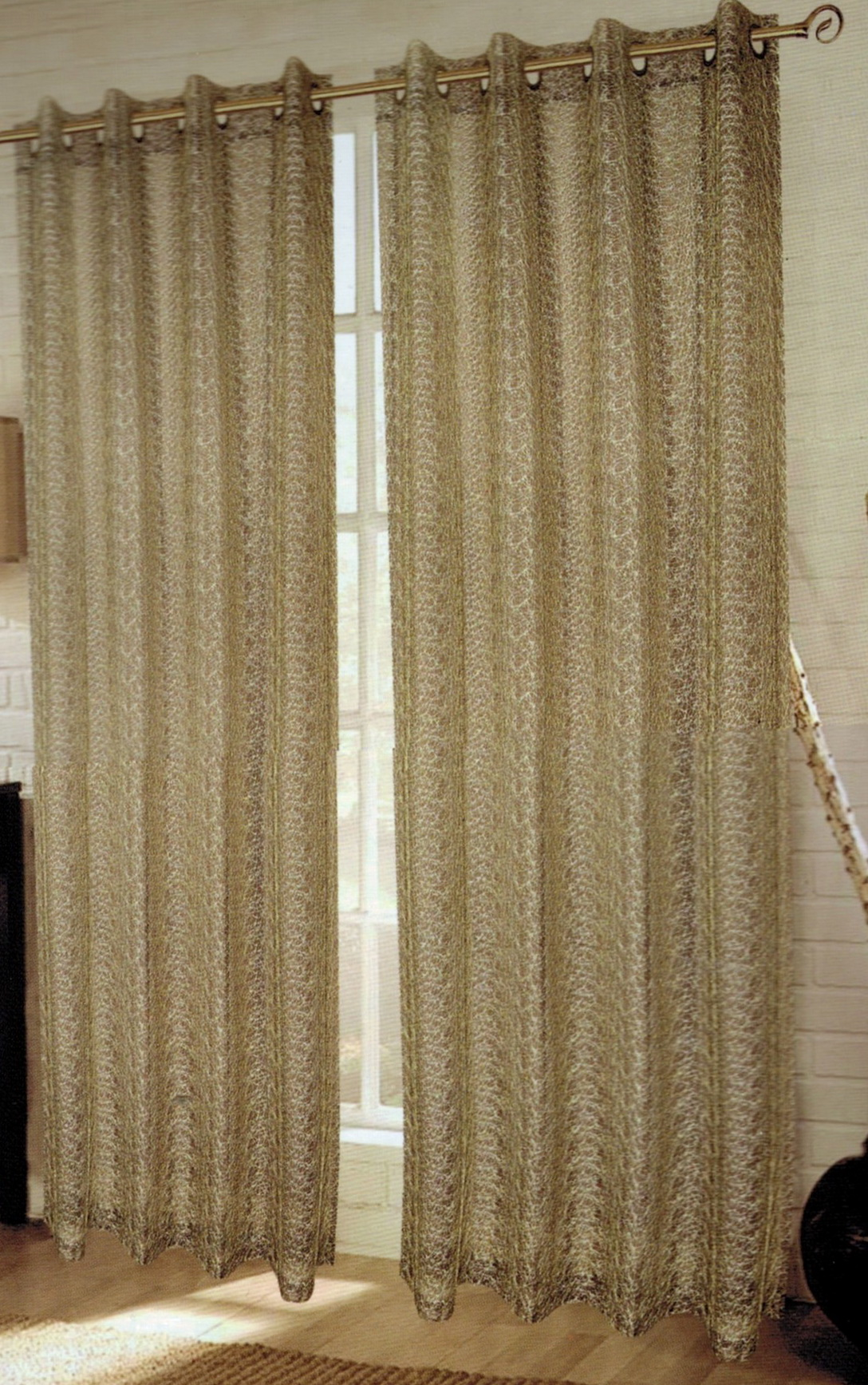 Embroidered Sheer Curtain Panels