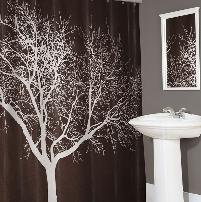 Fabric Shower Curtain Tree