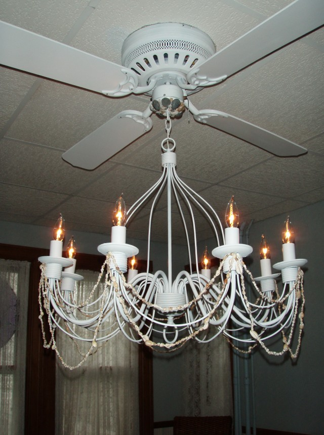 Fan With Chandelier Light