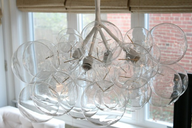 Floating Glass Ball Chandelier