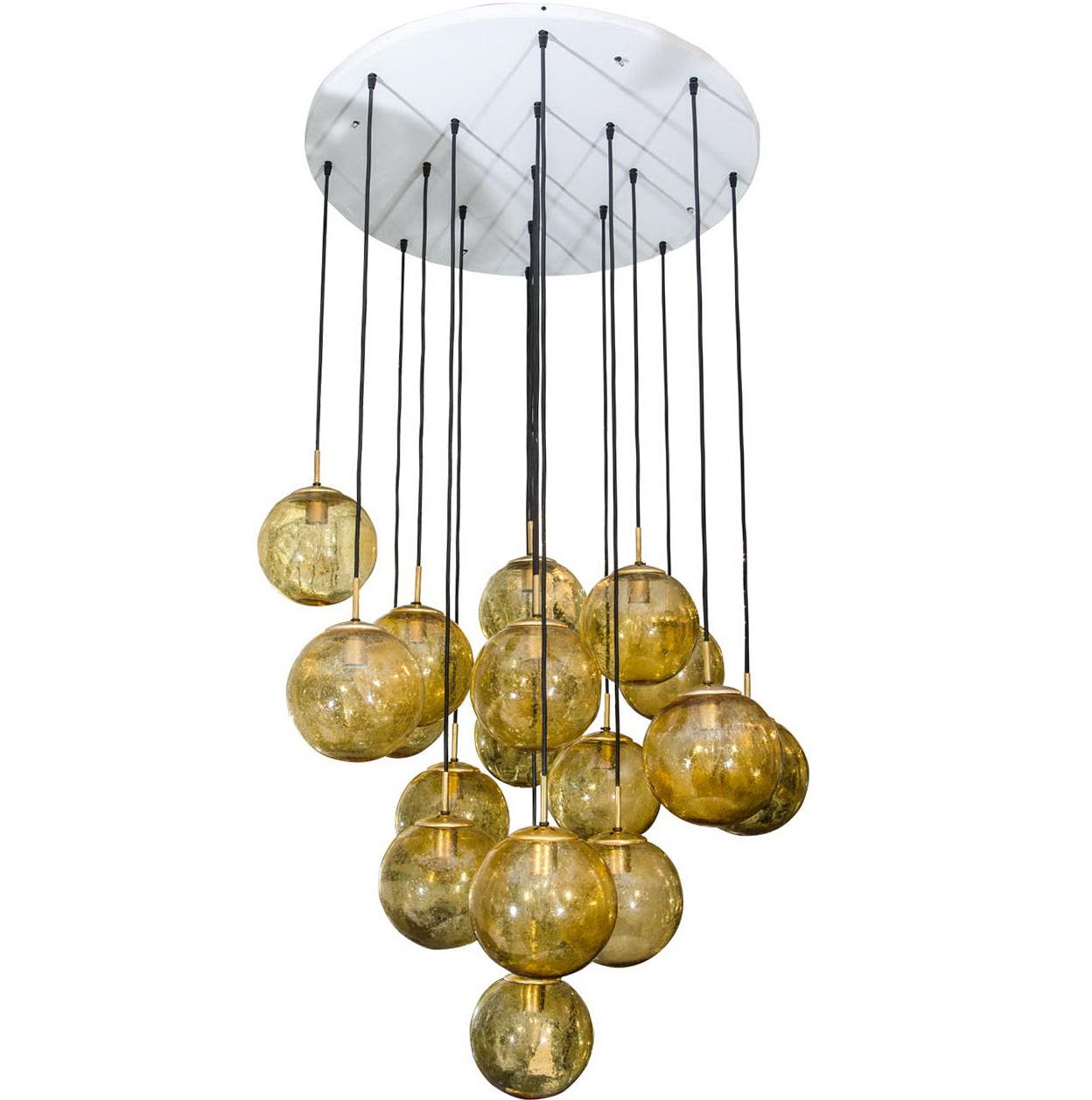 Glass Globe Chandelier Lighting