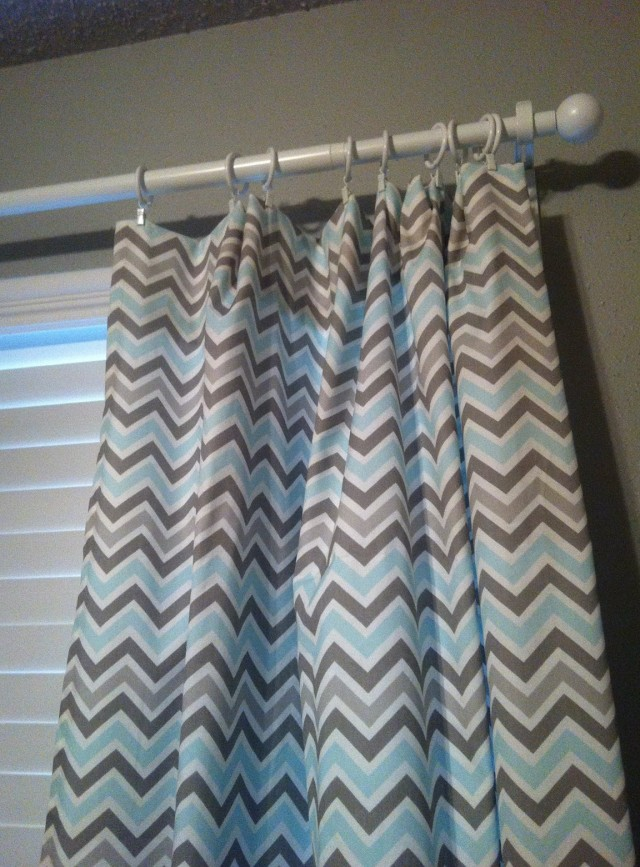 Grey And Light Blue Curtains