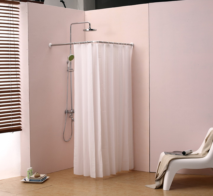 Half Round Shower Curtain Rod