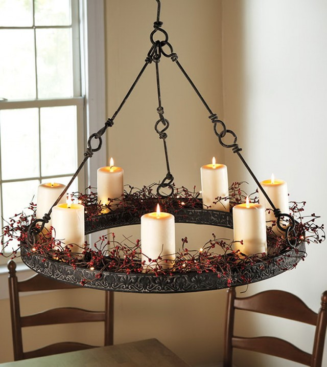 Hanging Chandelier With Candles