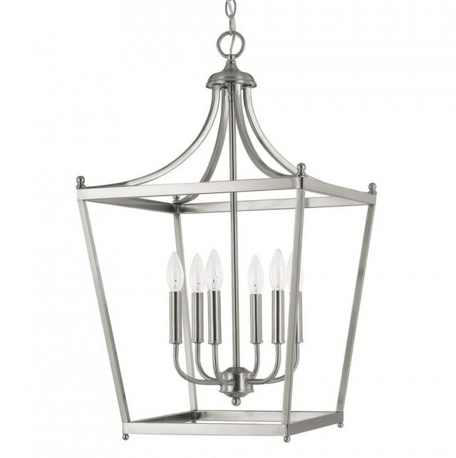Lantern Style Foyer Chandelier