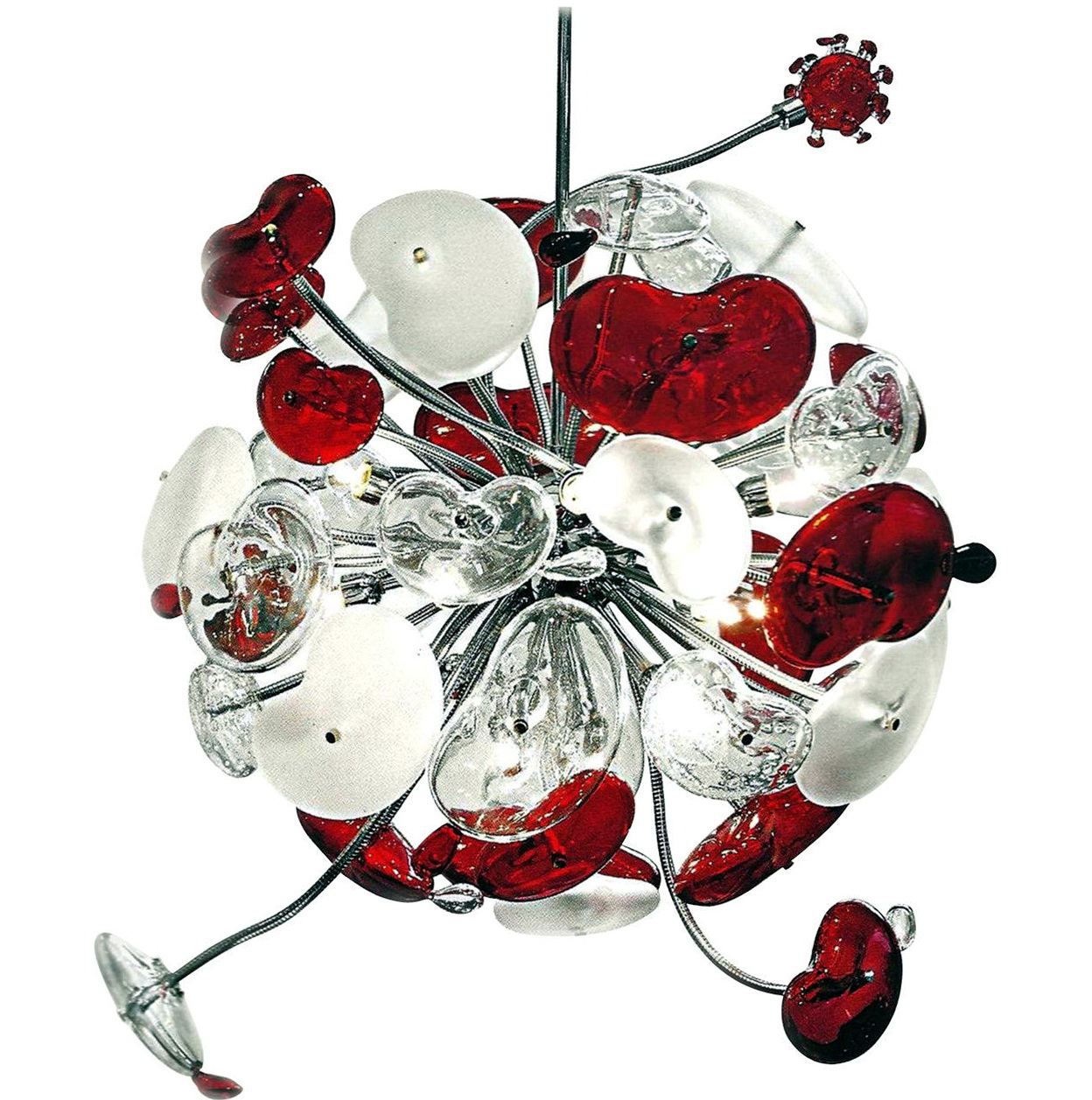 Large Glass Ball Chandelier
