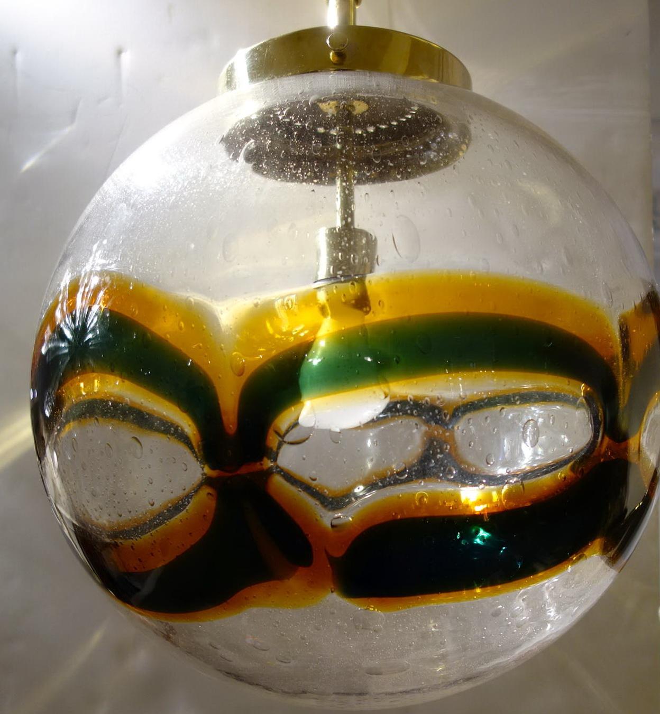 Large Glass Globe Chandelier