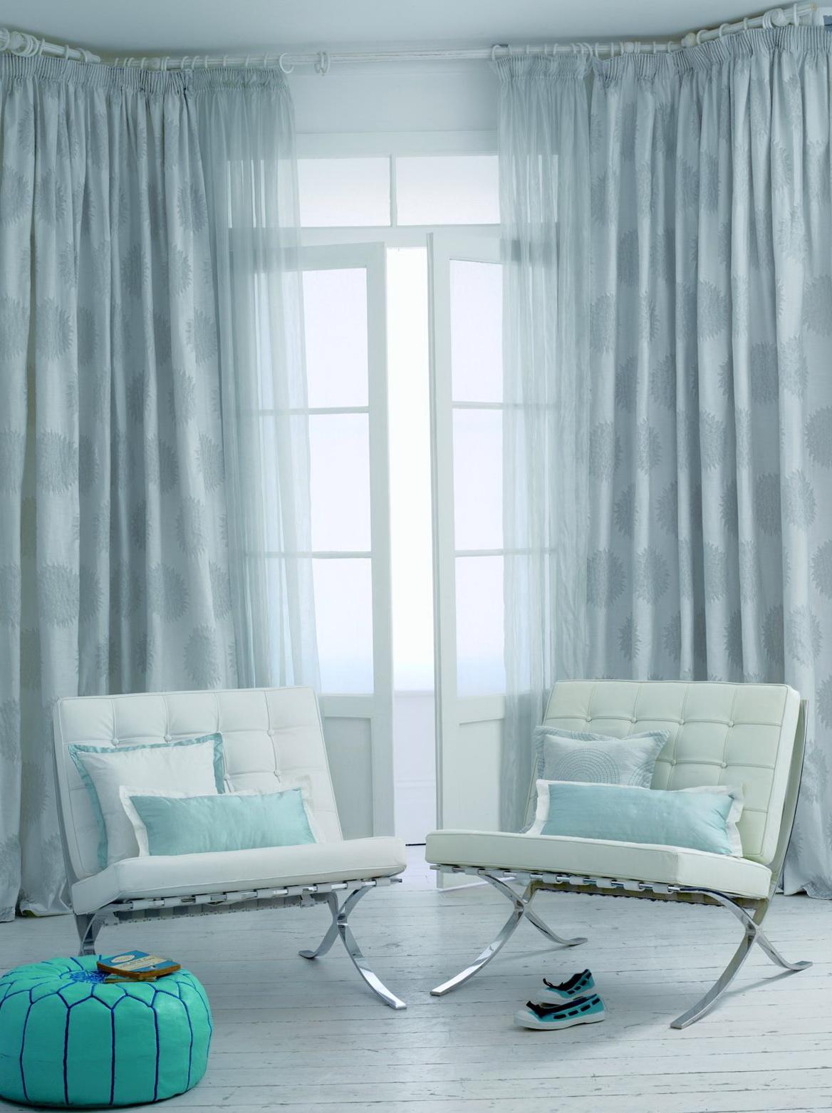 Light Blue Curtains Living Room