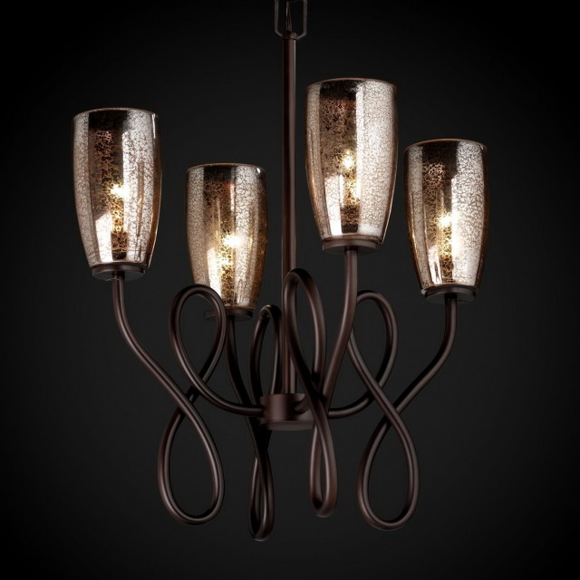 Mercury Glass Chandelier Shades
