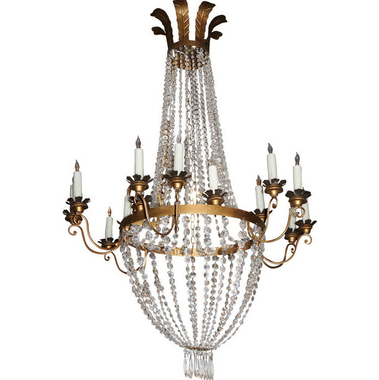 Metal Chandelier Candle Sleeves