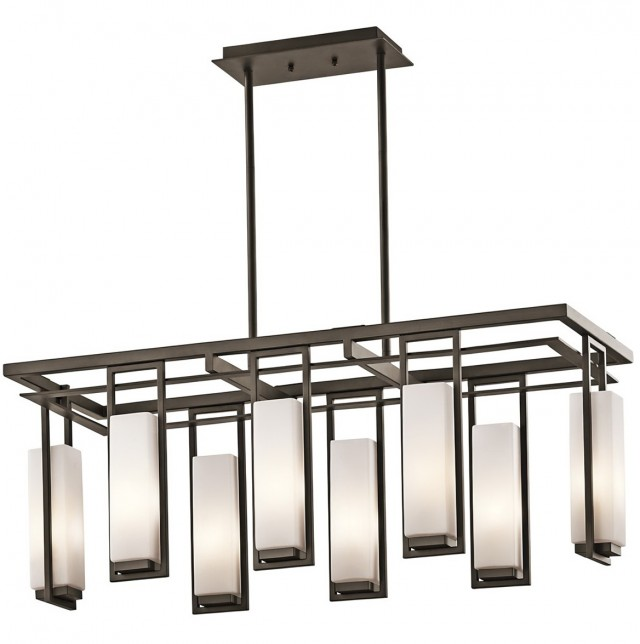 Modern Rectangular Glass Chandelier