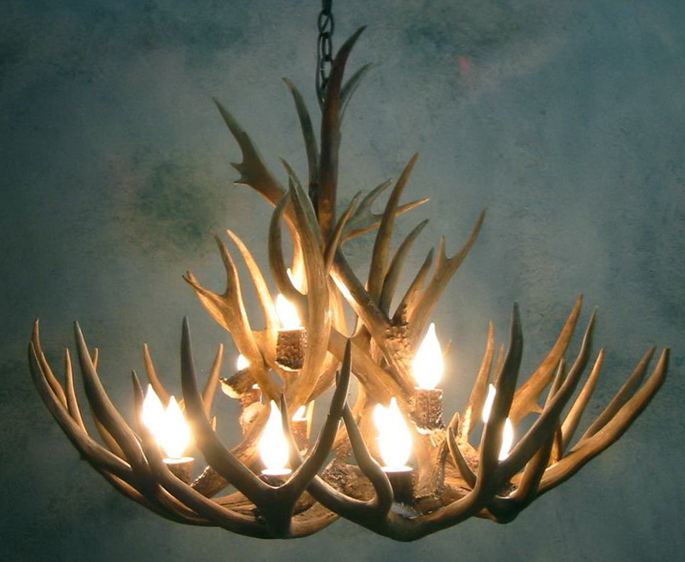 Moose Antler Chandelier For Sale