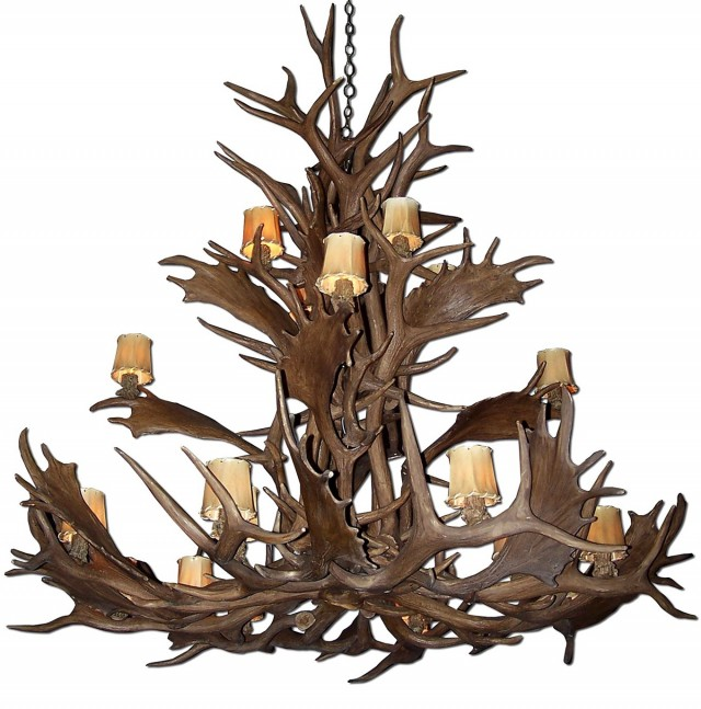 Moose Antler Chandelier Reproduction