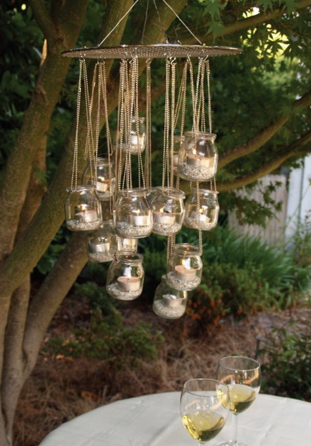 Outdoor Chandelier With Candles