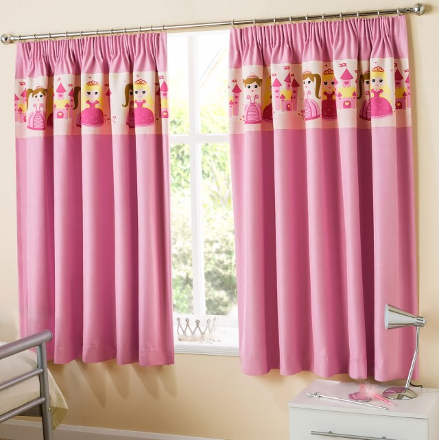 Pale Pink Blackout Curtains
