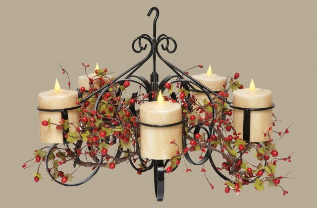 Pillar Candle Chandelier Home Depot