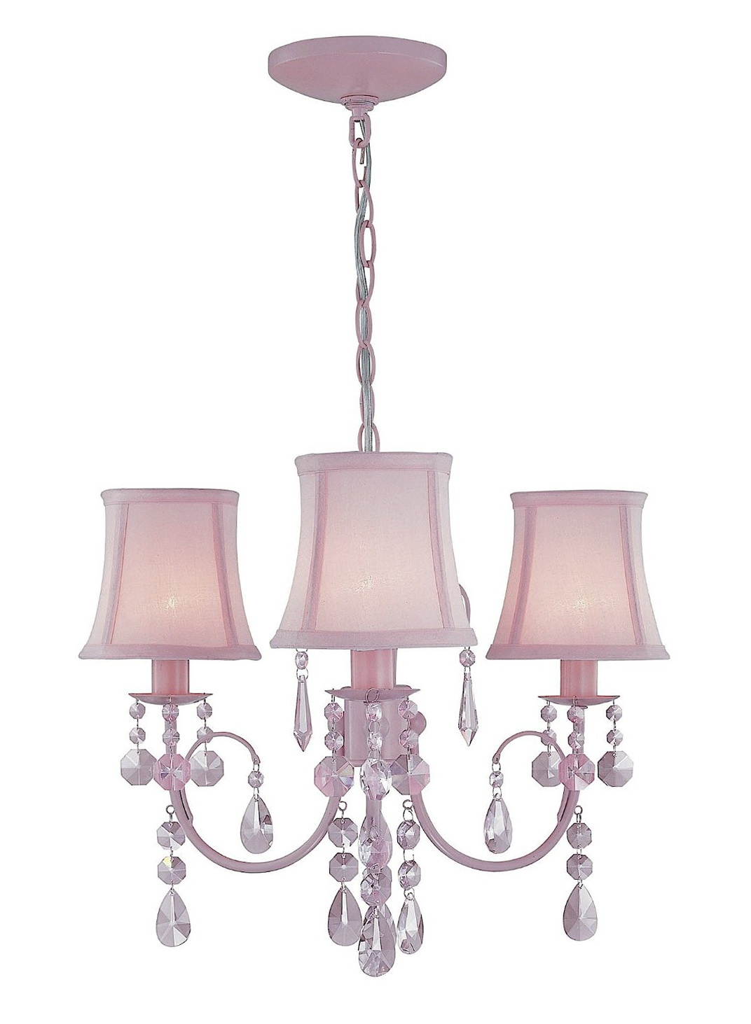 Pink Chandelier For Girls Room