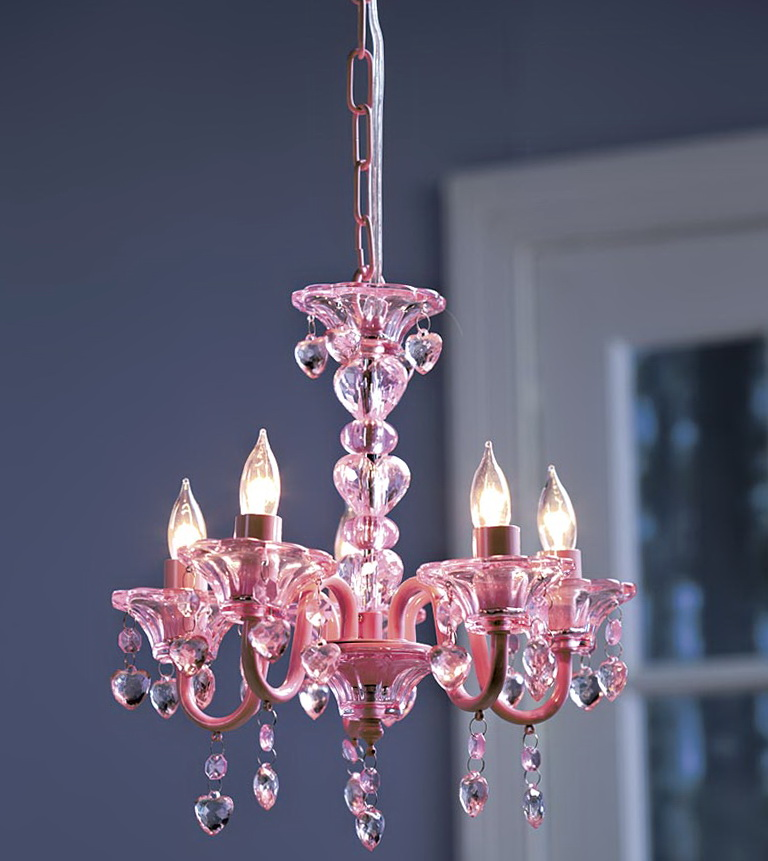 Pink Chandelier For Kids Room