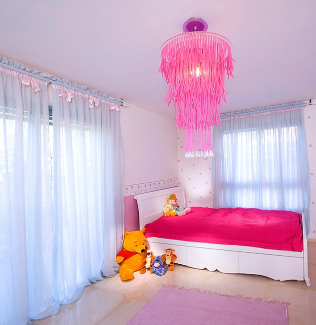 Pink Chandelier For Nursery