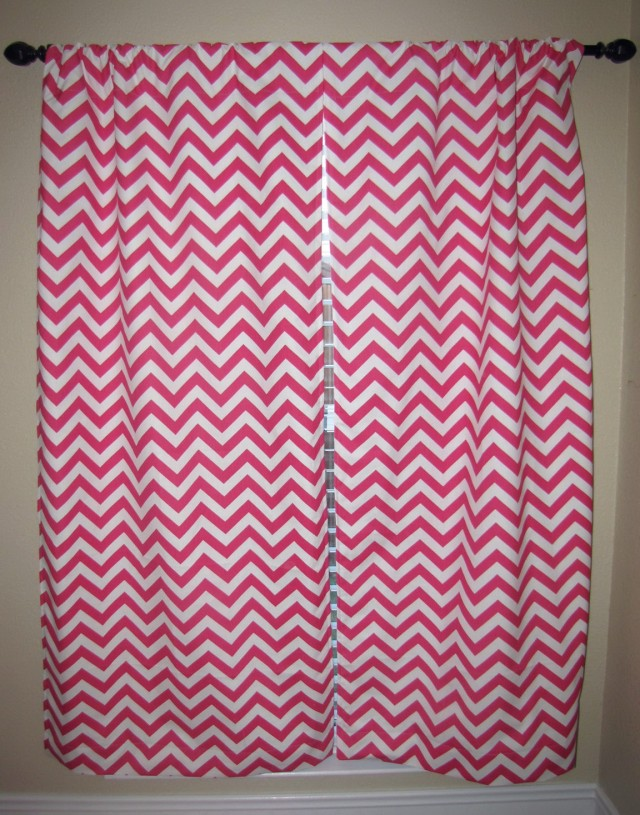 Pink Chevron Blackout Curtains