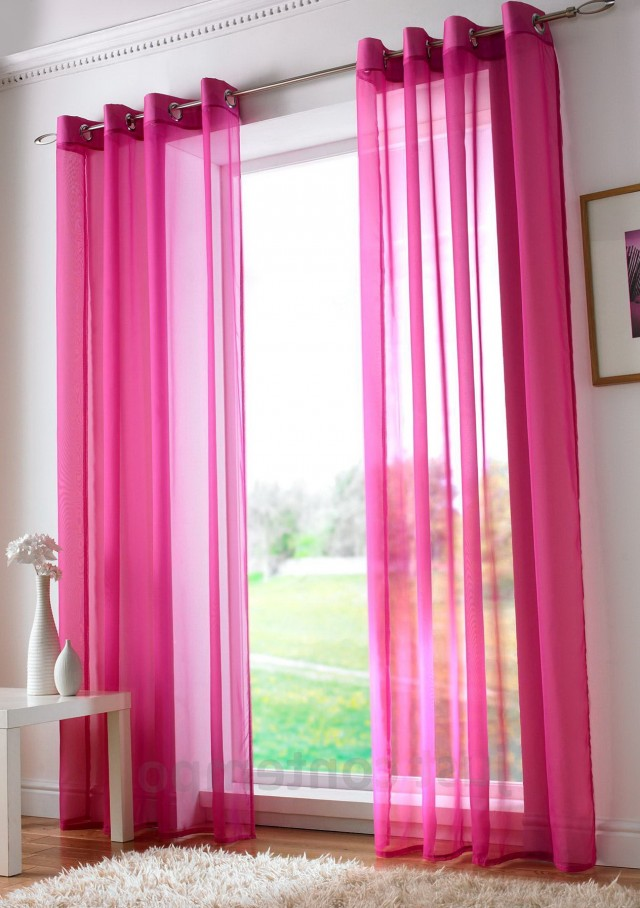 Pink Eyelet Blackout Curtains