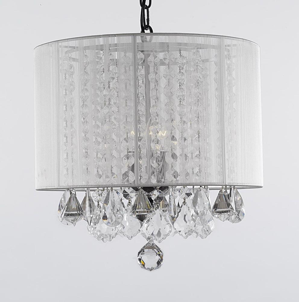 Plug In Crystal Chandelier Lighting