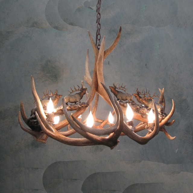 Real Antler Chandelier For Sale