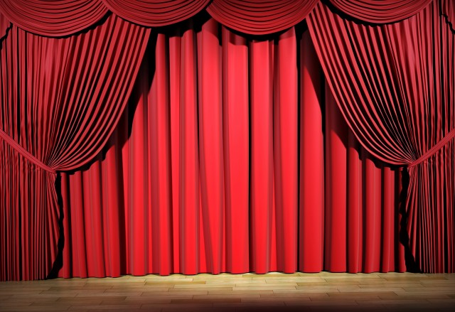 Red Drapes And Curtains