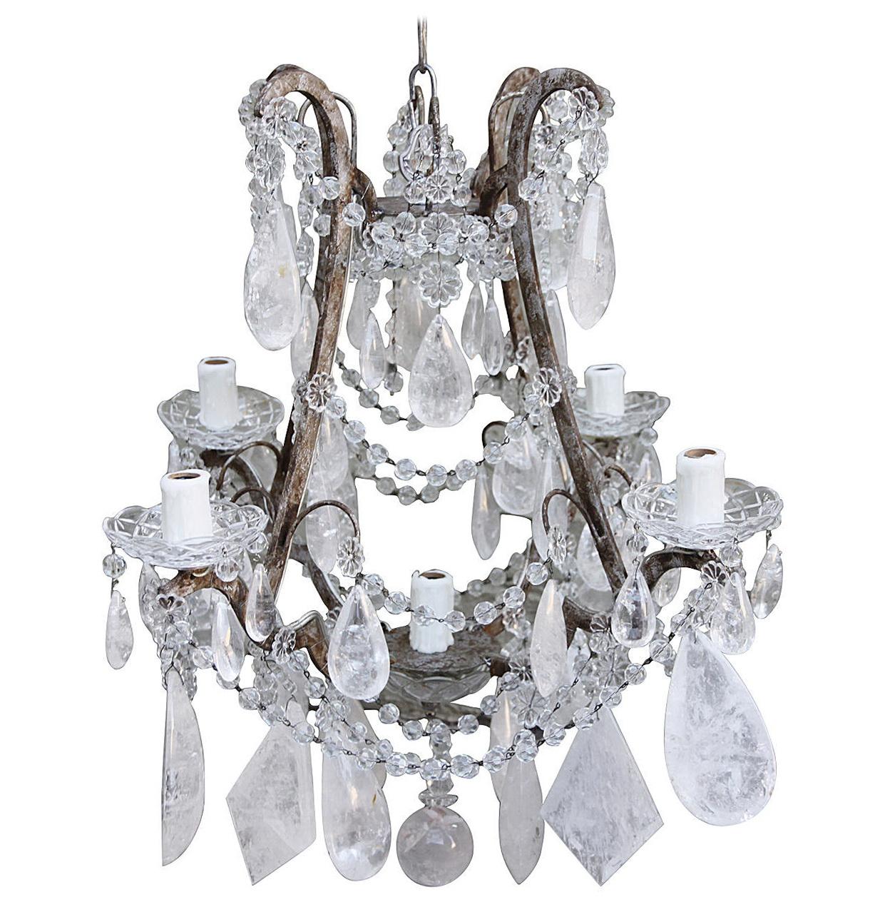 Rock Crystal Chandelier Pendants