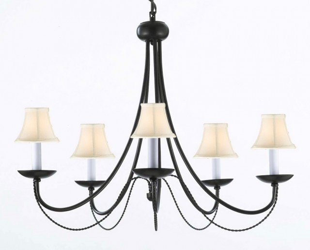 Rod Iron Chandelier Lighting