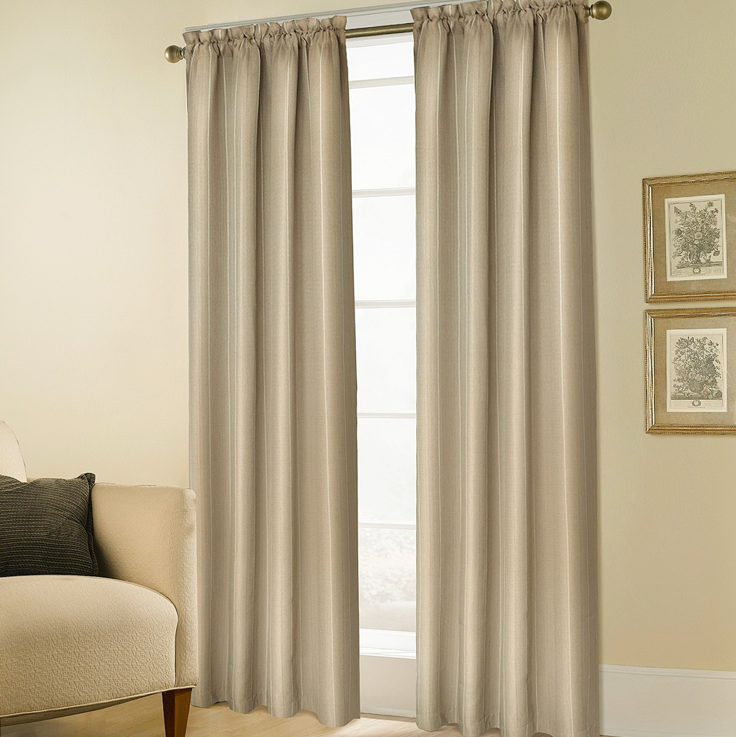 Rod Pocket Top Curtains