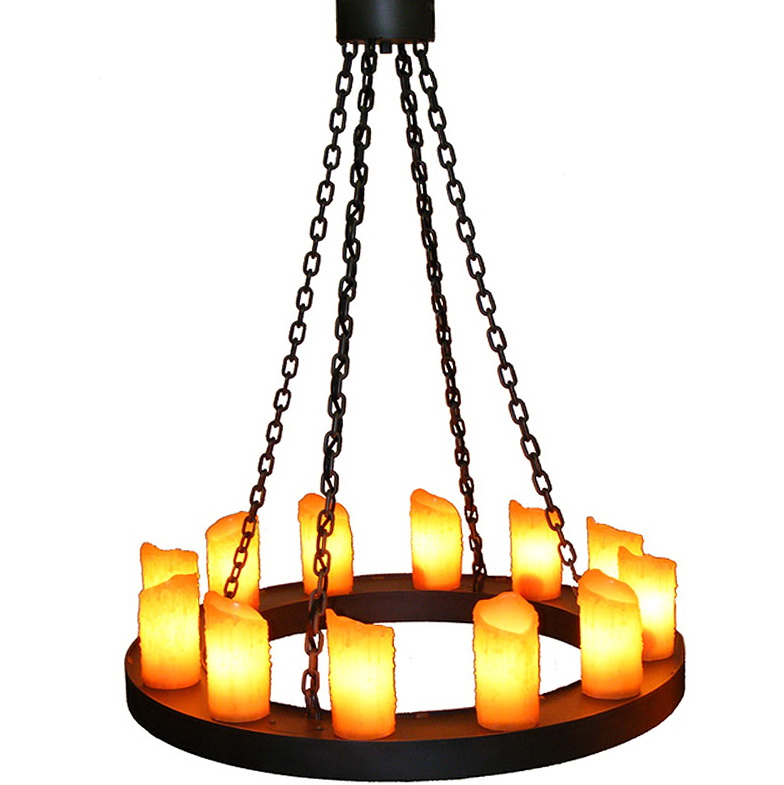 Round Chandelier With Candles