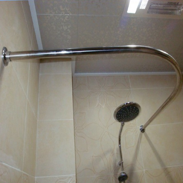 Round Corner Shower Curtain Rod